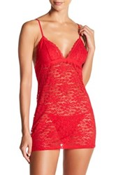 In Bloom By Jonquil Urban Girl Chemise 2 Piece Set Red