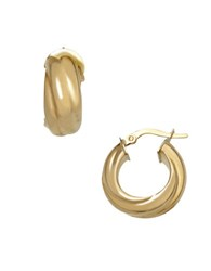 Lord And Taylor 14K Yellow Gold Twisted Hoop Earrings