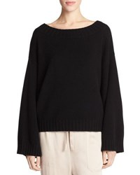 Vince Cashmere Boxy Pullover Sweater Gray