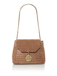 Biba Chain Handle Shoulder Bag Bronze