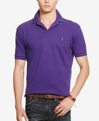 Polo Ralph Lauren Men's Classic Fit Mesh Shirt Plum Purple