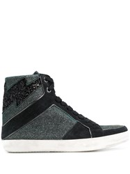Zadig And Voltaire High Top Sneakers Black