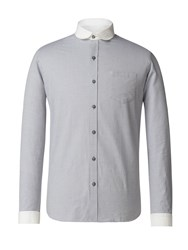 Gibson Men's Grey Penny Round Shirt Grey