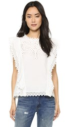 Endless Rose Lace Flutter Blouse Off White