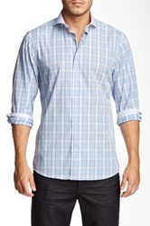 Brio Check Print Long Sleeve Contemporary Fit Shirt Multi