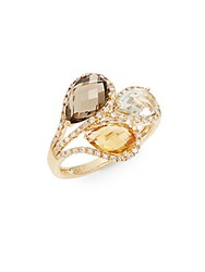 Effy Final Call Diamond Mixed Gemstone And 14K Yellow Gold Ring Gold Multi