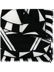 Givenchy Power Of Love Print Scarf Black