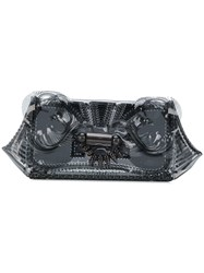 Mame See Through Clutch Bag Black