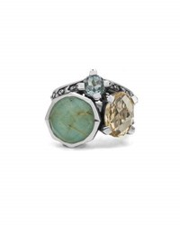Stephen Dweck Doublet Cluster Small Ring With Turquoise And Quartz