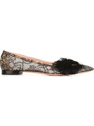 Rochas Overlay Lace Mask Slippers Black