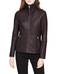 Marc New York Classic Quilted Shoulder Leather Moto Jacket Black