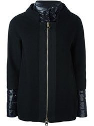 Herno Layered Sleeves Short Jacket Black