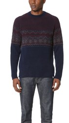 Norse Projects Birnir Fair Isle Sweater Navy