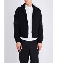 Wooyoungmi Stitched Panel Woven Hoody Black