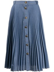 Philosophy Di Lorenzo Serafini Pleated A Line Midi Skirt 60