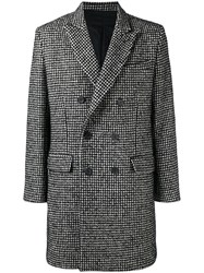 Ami Alexandre Mattiussi Lined Double Breasted Coat Men Acrylic Polyamide Polyester Other Fibres 50 Black