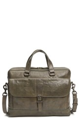 Frye Oliver Leather Briefcase Green