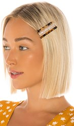 Amber Sceats Nina Hairclip Set In Metallic Gold. Multi