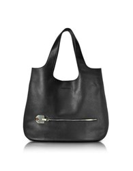 Giorgio Fedon 1919 Amelia Black Leather Slim Tote Bag