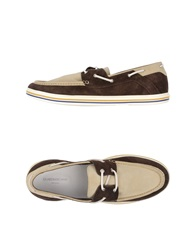 Guardiani Sport Moccasins Dark Brown