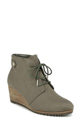 Dr. Scholl's Conquer Wedge Bootie Green Fabric