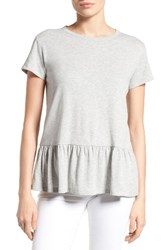 Caslonr Women's Caslon Peplum Tee Heather Grey