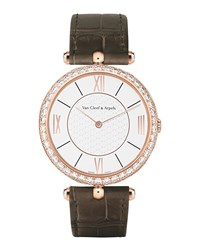 Pierre Arpels Pink Gold Watch With Diamonds 38Mm Van Cleef And Arpels Pink Gold