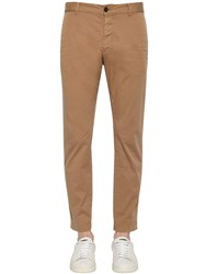 Dsquared 16.5Cm Tidy Biker Cotton Canvas Pants Beige