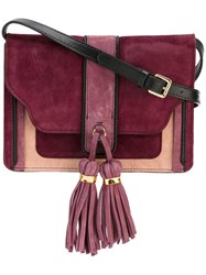 L'autre Chose Tassel Detailing Crossbody Bag Pink And Purple