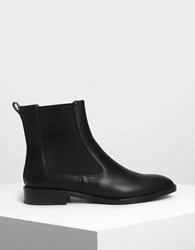 Charles And Keith Classic Chelsea Boots Black