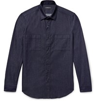Berluti Slim Fit Denim Overshirt Dark Denim