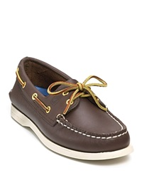 Sperry A O 2 Eye Lace Leather Boat Shoes