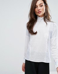 Fashion Union High Neck Top With Panels Blue