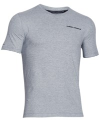Under Armour Men's V Neck Charged Cotton T Shirt True Gray