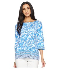 Lilly Pulitzer Waverly Top Resort White On A Roll Clothing Blue