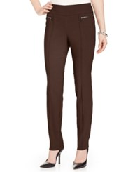 Styleandco. Style And Co. Petite Skinny Leg Pull On Pants Espresso