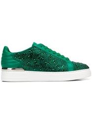 Philipp Plein Embellished Low Top Sneakers Green
