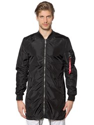 Alpha Industries Ma 1 Tt Nylon Long Bomber Jacket