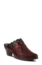 L'artiste Rima Mule Red Leather