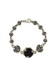 King Baby Studio Carved Rose Motif Bracelet Metallic