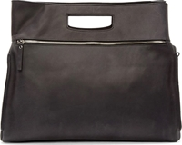 Maison Martin Margiela Dark Grey Leather Double Handle Tote