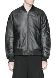 Mcq By Alexander Mcqueen Perforated Leather Biker Jacket Black