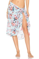Seafolly Antique Floral Sarong Turquoise