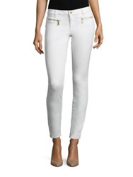 Michael Michael Kors Slim Fit Izzy Zip Denim Pants White