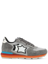 Atlantic Stars Antares Suede And Nylon Sneakers Grey
