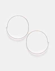 Weekday Tina Creol Hoop Earrings Silver