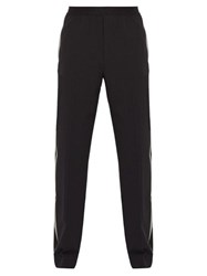 Helmut Lang Side Striped Stretch Wool Trousers Black