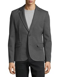 Atm Anthony Thomas Melillo Tailored Ponte Knit Blazer Charcoal