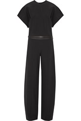 Narciso Rodriguez Belted Stretch Crepe Jumpsuit Black
