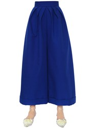 Delpozo Wide And Cropped Cotton Crepe Pants